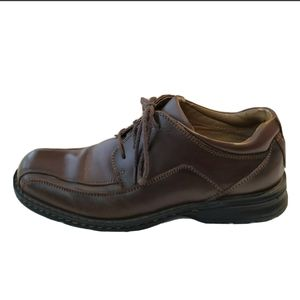 Dockers Brown Dress Shoes Oxford 8.5 m Leather